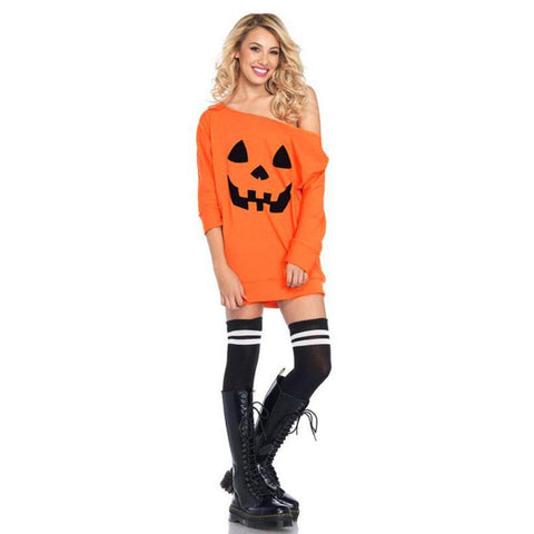 Image of Pumpkin Costume Halloween Party Dress - LoveLuve