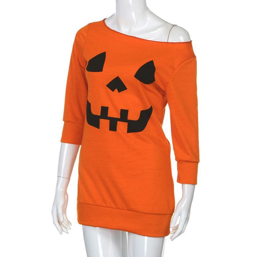 Pumpkin Costume Halloween Party Dress - LoveLuve