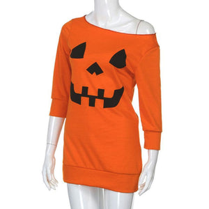 Pumpkin Costume Halloween Party Dress