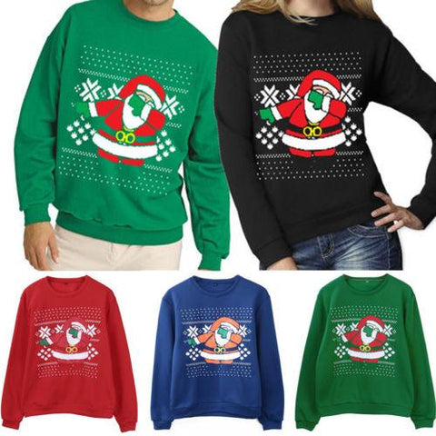 Image of Xmas Sweaters Ugly Christmas Sweater Couple Matching Clothes Unisex Outfits for Lovers Women Men Autumn Winter NEW