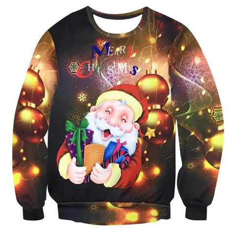 3D Printing Men Women 2018 UGLY CHRISTMAS SWEATER Vacation Santa Elf Funny Womens Men Sweaters Tops Autumn Winter Clothing - LoveLuve