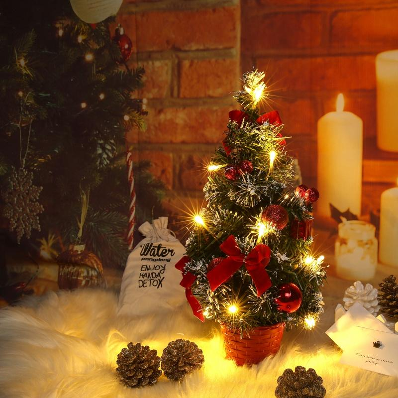 Table LED Christmas Tree Xmas Nightlight Decoration Light Pine Tree Mini Christmas Tree Christmas Decoration New Year Gift