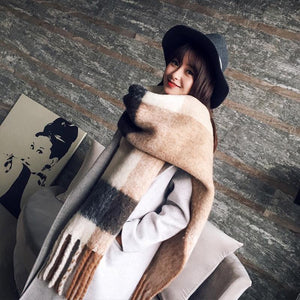 Korean New Fashion Warm Long Shawl