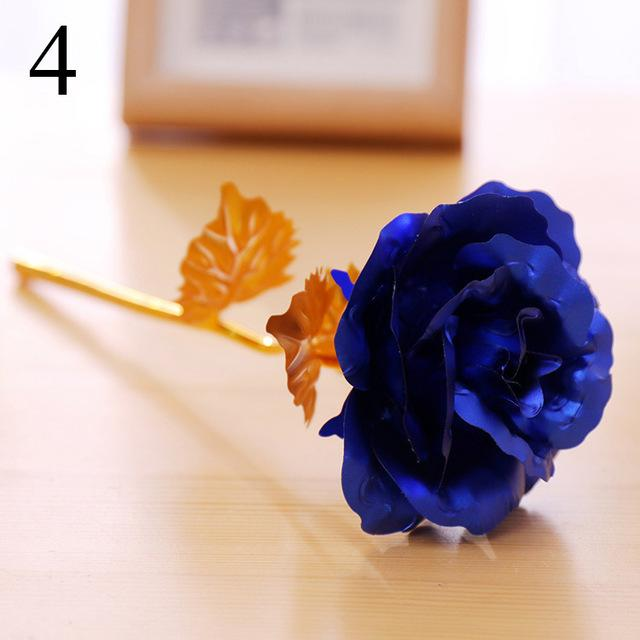 1 pcs Gold Foil Plated Rose Wedding Decoration Flower Valentine's Day Gift  artificial flower Wife and Mommy Birthday Gifts - LoveLuve