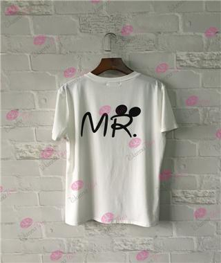 Image of MR. & MRS. Letter T-Shirt - LoveLuve