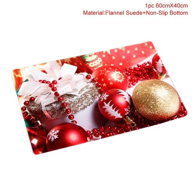 FENGRISE Flannel Merry Christmas Door Mat Rug Christmas Decoration for Home Navidad Christmas Ornaments 2018 Xmas Party New Year - LoveLuve