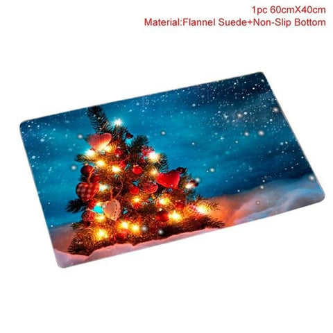 Image of FENGRISE Flannel Merry Christmas Door Mat Rug Christmas Decoration for Home Navidad Christmas Ornaments 2018 Xmas Party New Year - LoveLuve