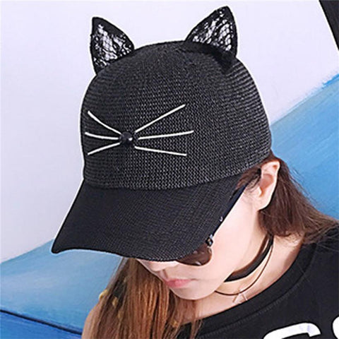 Women Baseball Tennis Cat Cap - LoveLuve