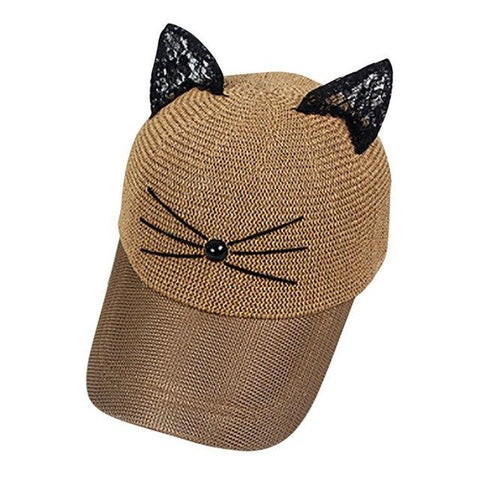 Image of Women Baseball Tennis Cat Cap - LoveLuve