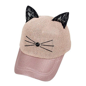 Women Baseball Tennis Cat Cap