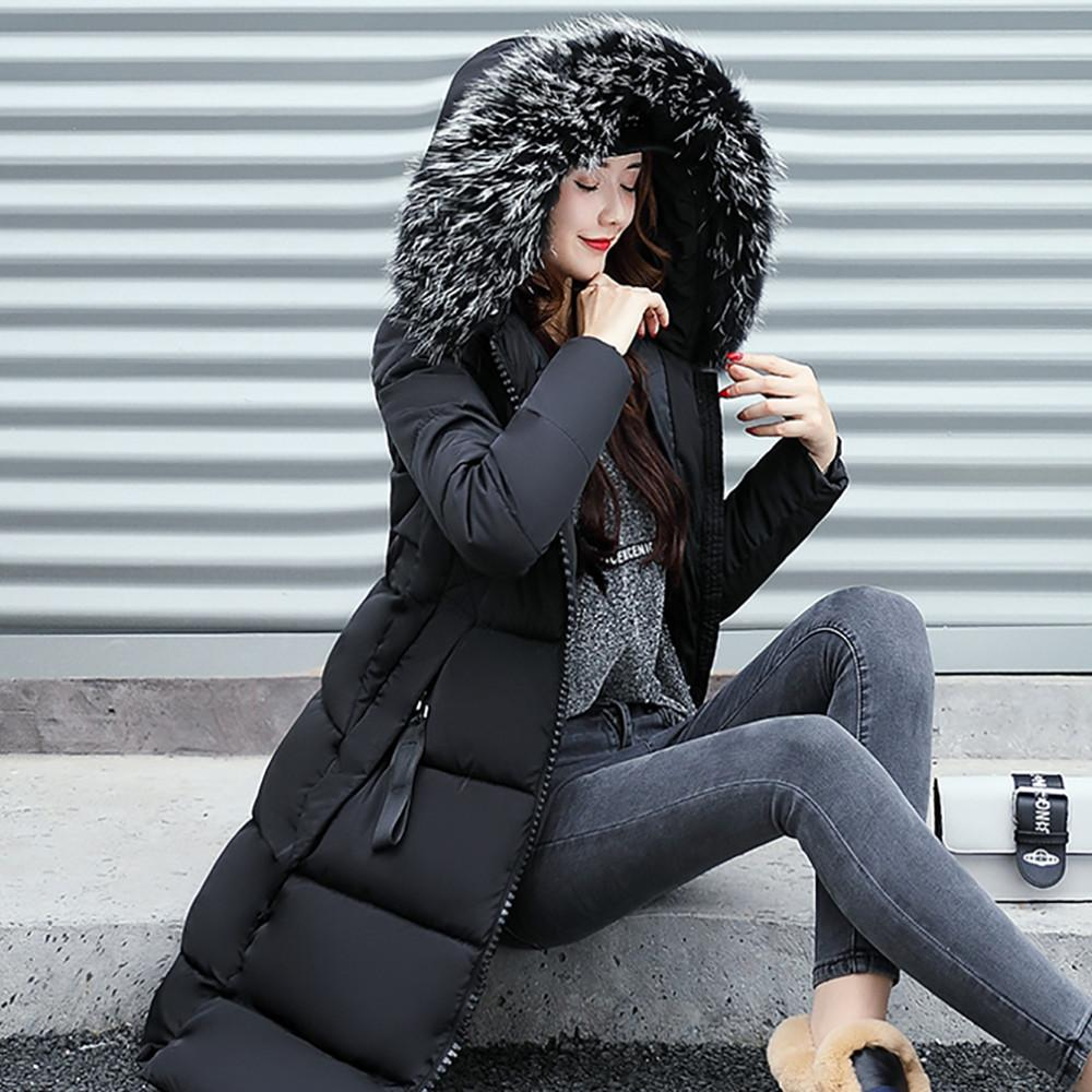 Winter Slim Down Thicker Faux Fur Parka Jacket Coat