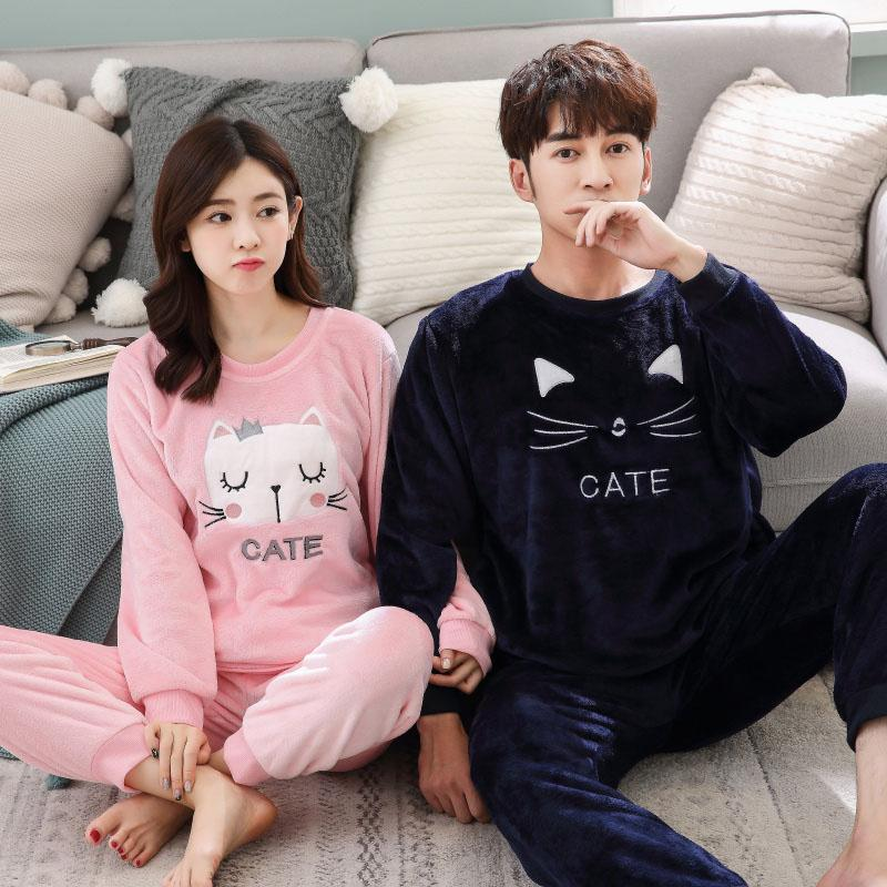 Couple Matching Cate Flannel Pajamas - LoveLuve