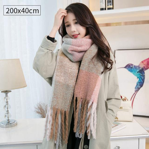 Image of Women Wool Pashmina Winter Warm Shawls