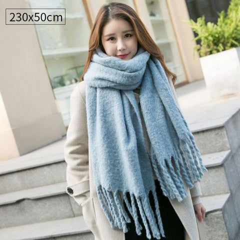 Women Wool Pashmina Winter Warm Shawls