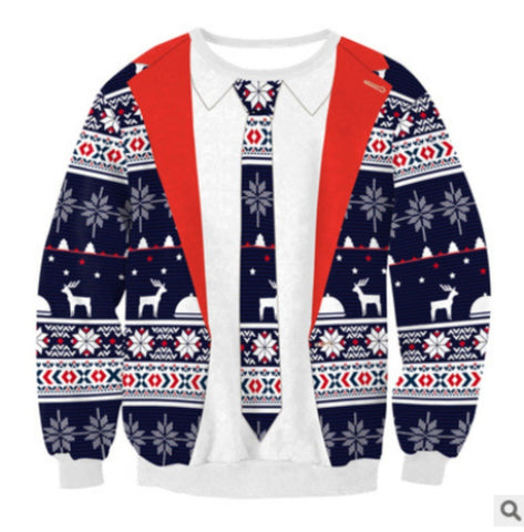 Image of 2018 UGLY CHRISTMAS SWEATER Vacation Santa Elf Funny Womens Men Sweaters Gogoboi Unisex Men Women Tops Autumn Winter Clothing - LoveLuve