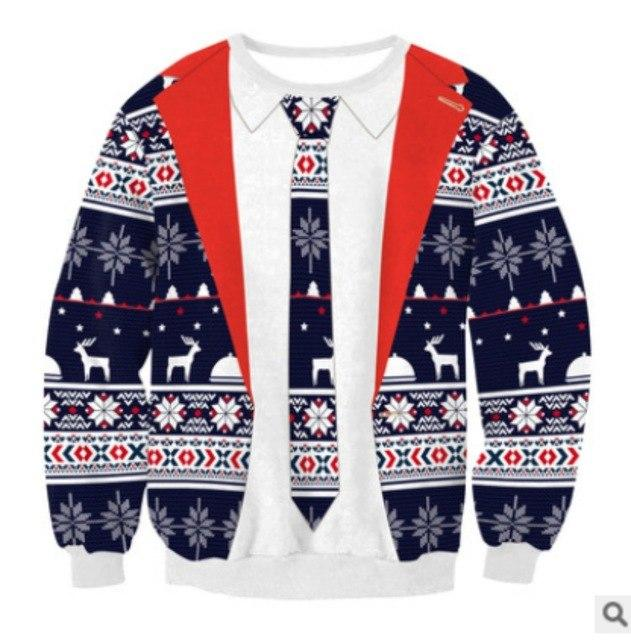 2018 UGLY CHRISTMAS SWEATER Vacation Santa Elf Funny Womens Men Sweaters Gogoboi Unisex Men Women Tops Autumn Winter Clothing - LoveLuve