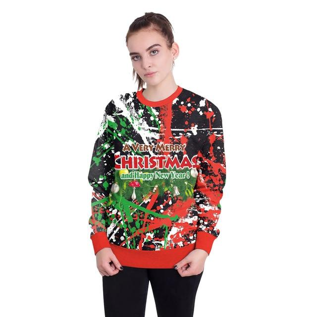2018New Arrival Stylish Unisex Christmas Sweater Sweatershirt Men Women Novelty Ugly Female Tops Clothes - LoveLuve