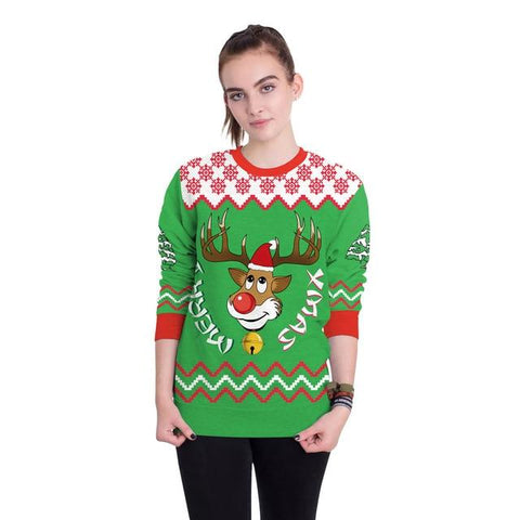 Image of 2018New Arrival Stylish Unisex Christmas Sweater Sweatershirt Men Women Novelty Ugly Female Tops Clothes - LoveLuve
