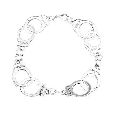 Image of HANCHANG Women's Fashion FSOG Charm Bracelet Fifty Shades of Grey Inspired 50 Shades Charms Tie Handcuffs Gray Bracelets Gift - LoveLuve