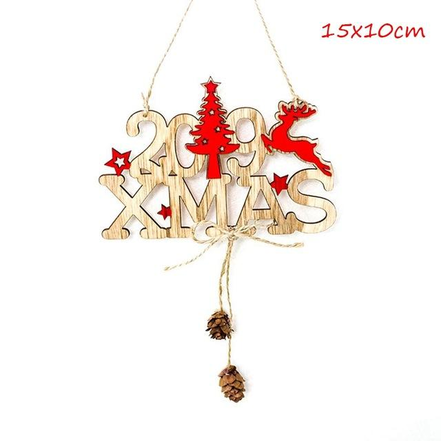 QIFU Merry Christmas Decorations for Home 2018 Happy New Year 2019 Noel Christmas Ornaments Christmas Santa Claus Xmas Decor