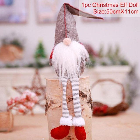 Image of QIFU Merry Christmas Decorations for Home 2018 Happy New Year 2019 Noel Christmas Ornaments Christmas Santa Claus Xmas Decor
