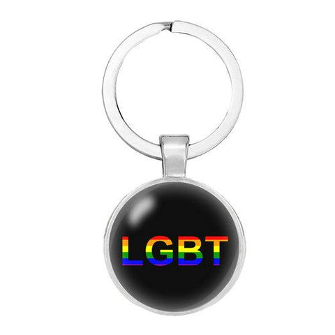 New LGBT pride lesbian gift pendant Keychain rainbow  Key Ring Chaveiro Gift  Llaveros jewelry