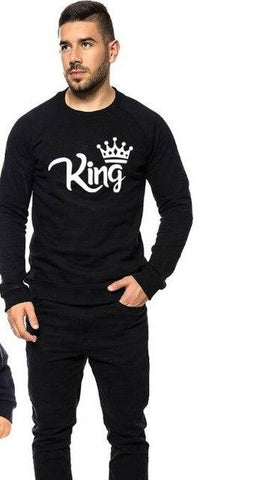New King Queen Prince Princess Family Matching Look Clothes Long Sleeve XMAS Gift Swetshirts Fashion Pullover Outfits Autumn
