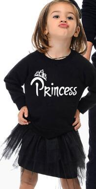 Image of New King Queen Prince Princess Family Matching Look Clothes Long Sleeve XMAS Gift Swetshirts Fashion Pullover Outfits Autumn