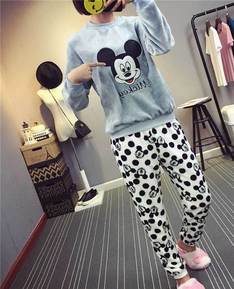 Women Warm Flannel Thickening Pajama