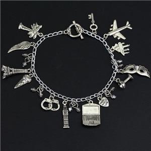 50 Fifty Shades Of Grey Fashion Charm Bracelet Hand Catenary Tie Handcuffs Gray Bracelets Crime Bracelet