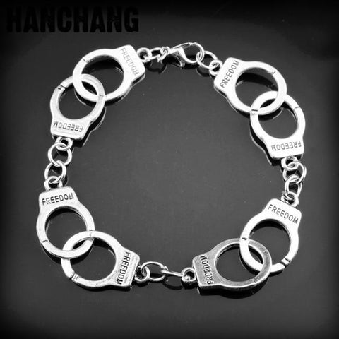 Image of 50 Fifty Shades Of Grey Fashion Charm Bracelet Hand Catenary Tie Handcuffs Gray Bracelets Crime Bracelet - LoveLuve
