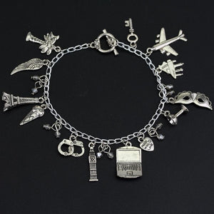 50 Fifty Shades of Grey Charm Bracelet Handcuffs Hand Catenary Vintage Silver Bracelets For Women Fashion Jewelry Accessories - LoveLuve