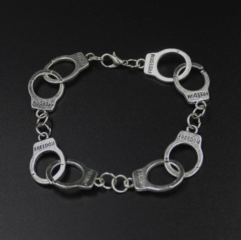 50 Shades of Grey Bracelets Laters Baby Fifty Charm handcuffs Bracelet with Gift Box - LoveLuve