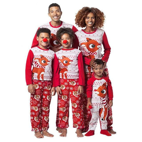 Women Reindeer Family Christmas Sleepwear Pajama Sets