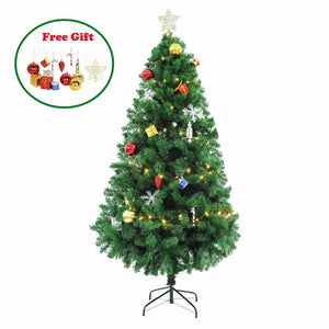 1.5/1.8/2.1M Tall Artificial Christmas Tree with LED Light
