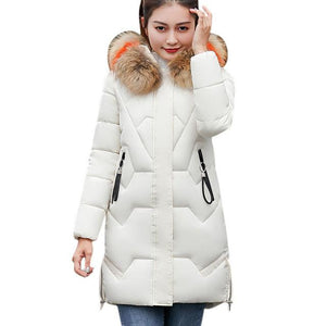 Faux Fur Hooded Long Parka
