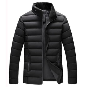 Men Warm Stand Collar Slim Winter Coat
