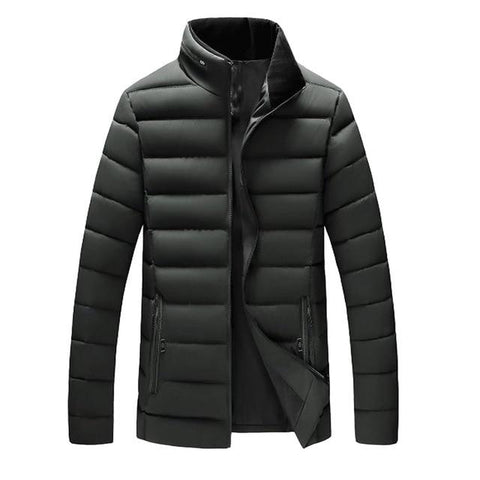 Men Warm Stand Collar Slim Winter Coat - LoveLuve