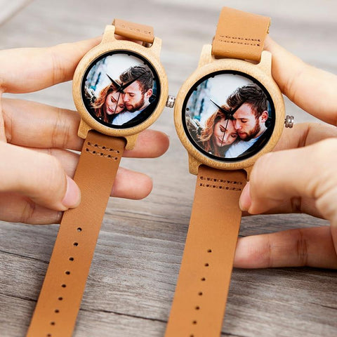 Image of Personalized Photo Printing Creative Couple Watches