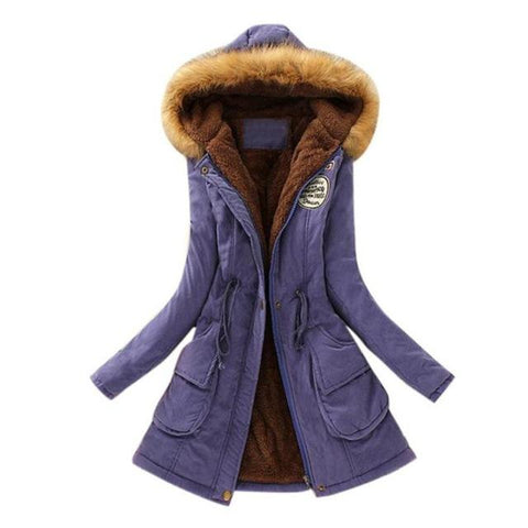 Women Winter Parka Casual Military Hooded Jacket Coat
