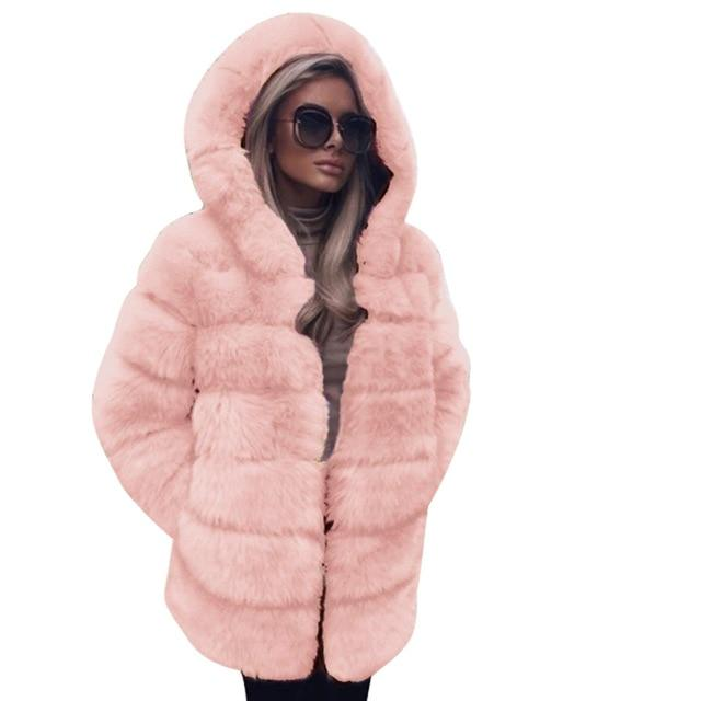 Elegant Faux Fur Fashion Winter Coats