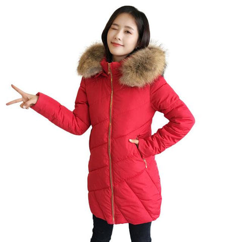 Image of Winter Women Slim Fit Casual Hoodie Coat