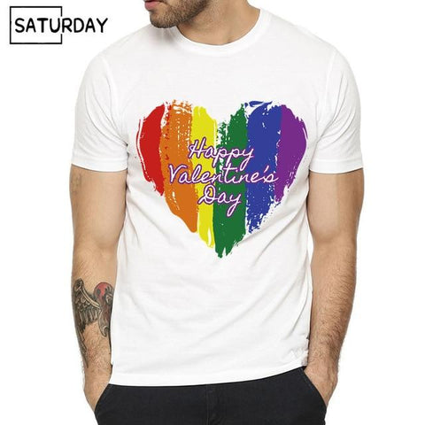 Image of Pride Lgbt Gay Love Lesbian Rainbow Design Print T-shirts for Man and Women Summer Casual Love is Love Tee Shirt Unisex Clothes