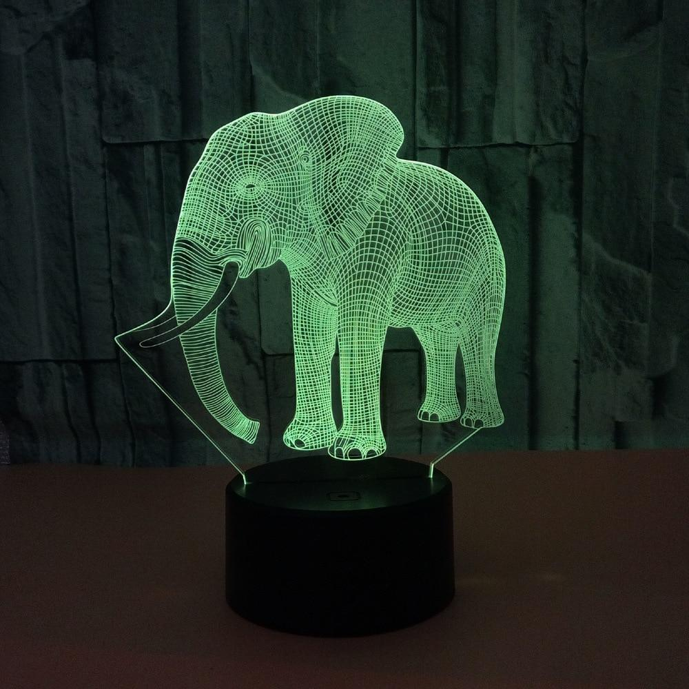 Gift for boyfriend 7 Color Change 3D Hologram Lamp