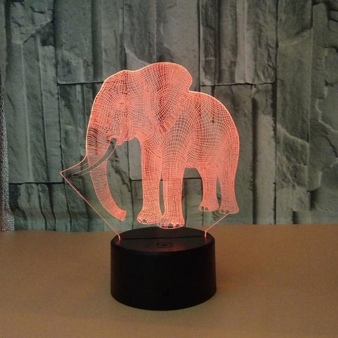 Image of Gift for boyfriend 7 Color Change 3D Hologram Lamp
