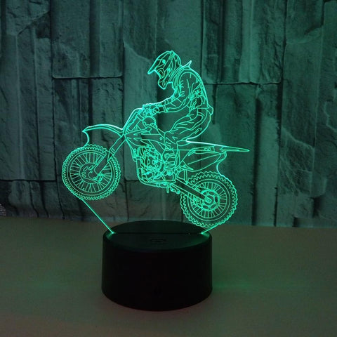 Image of 3D Hologram Ride Motorcycle Lamp Gift for Boyfriend