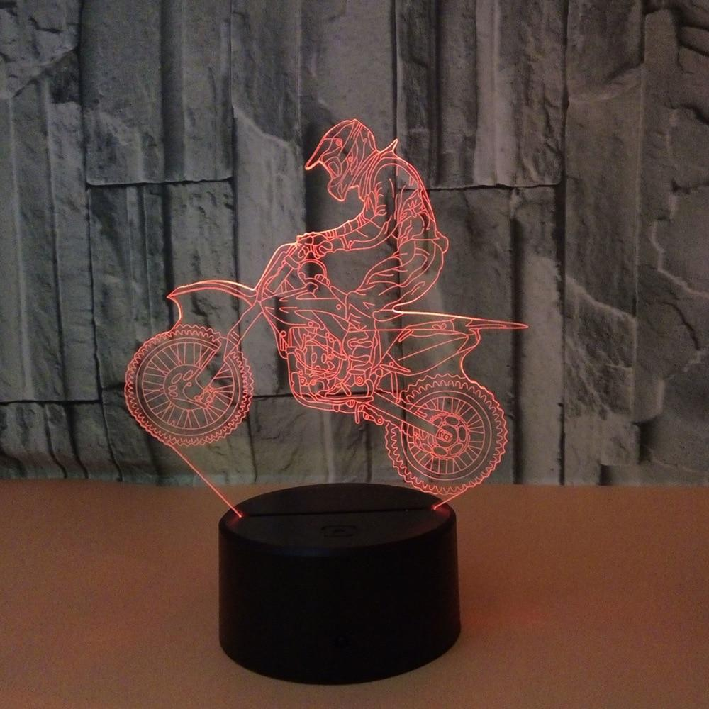 3D Hologram Ride Motorcycle Lamp Gift for Boyfriend