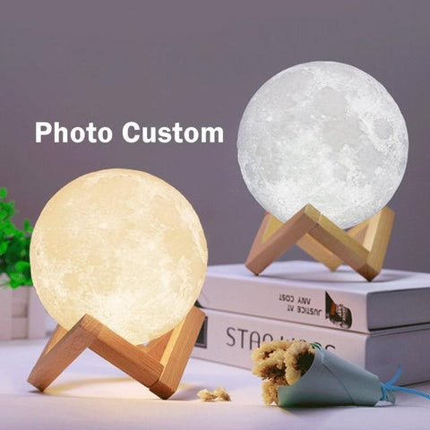 Image of Customized 3D Printing Moon Light