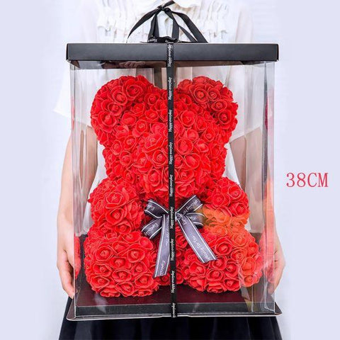 Image of Red Rose Teddy Bear - Valentine's Day Special
