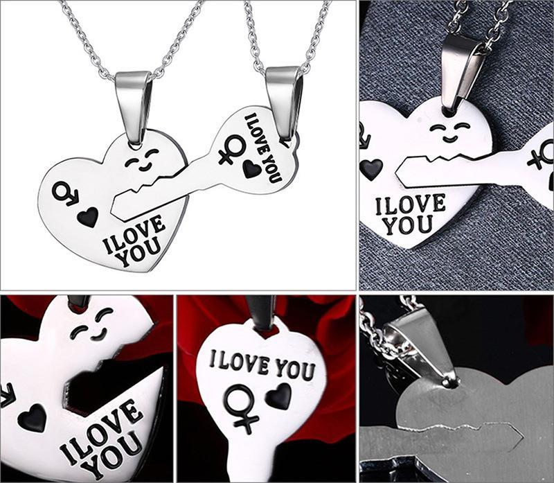 Matching Lovers Couple Puzzle Necklace - LoveLuve